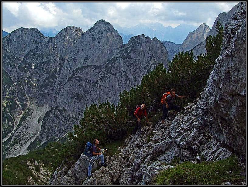 On Nabois/Nabojs east ridge