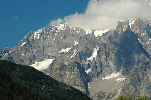 Under Mont Blanc south face