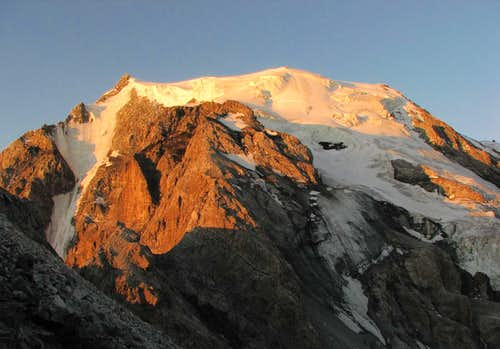 Ortler alpenglow