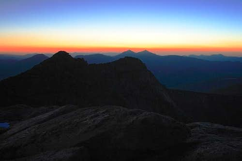sunset from Mt. Evans