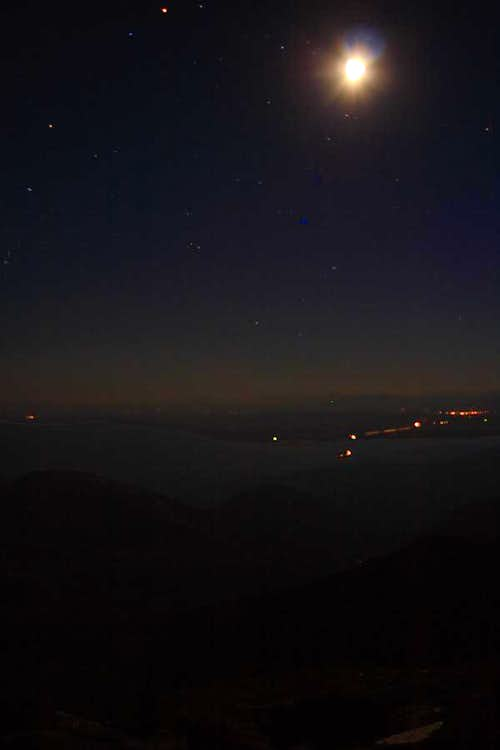 night sky at the summit