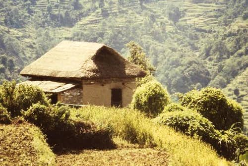 Typical Hut at Khare, on the...