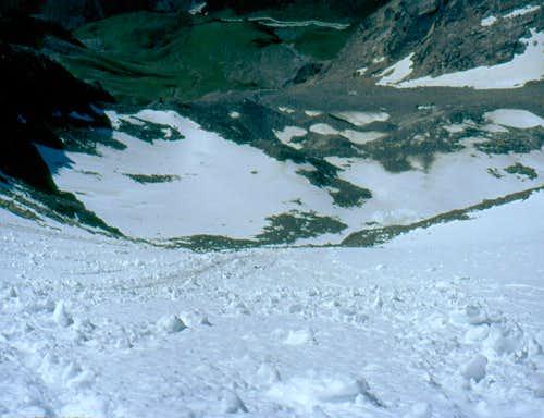 Ruderhofspitze south flank