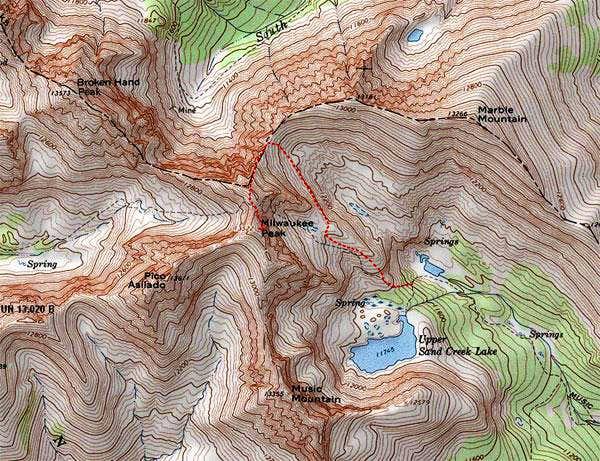 Milwaukee Peak route