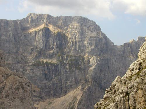 The north face of Spik nad Nosom / Foronon del Buinz, 2531m.