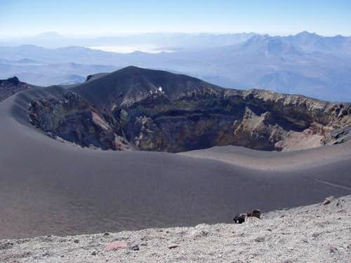 The intererior, 2nd, crater...