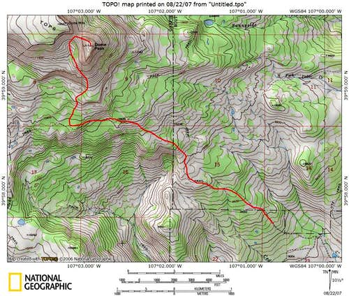 Dome Peak Route