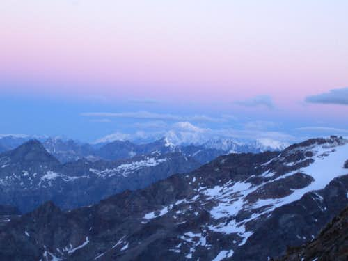 Mont Blanc in the first light