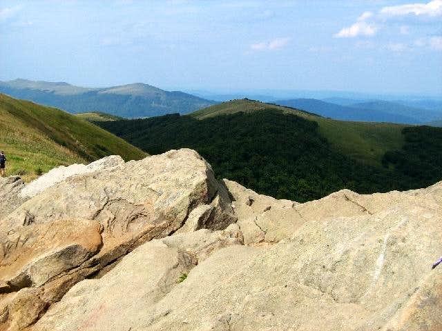 View from the summit of Mount Wielka Rawka (1304 m)