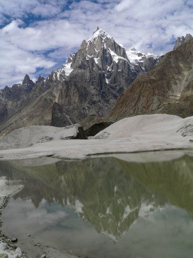 Reflection of Paiyu Peak Karakoram in glacial lake