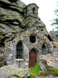 Old church cutted out of the rocks