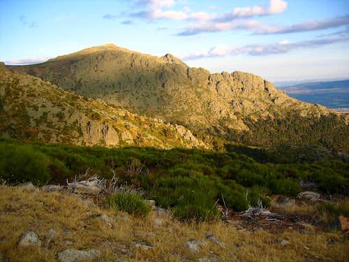 Maliciosa peak on sunset