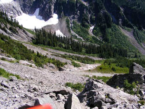 Down again from Easy Ridge