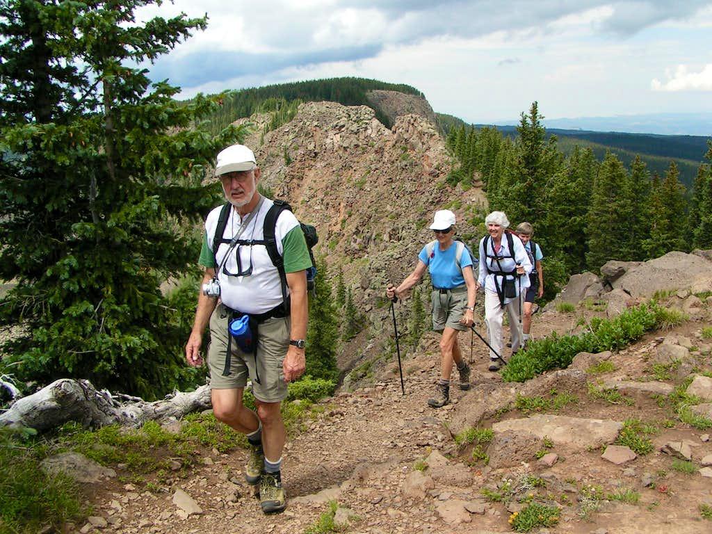 Hikers on Crag Crest