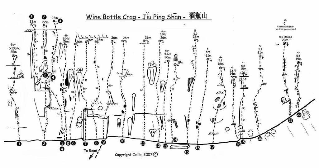 Wine Bottle Route Topo