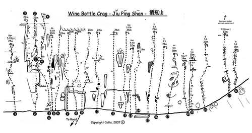 Wine Bottle Route Topo