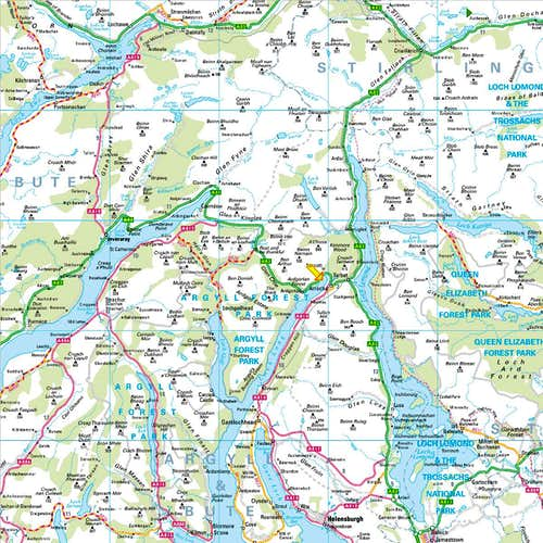 Arrochar Area Map