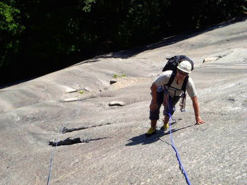 Finishing the 1st(?) pitch of Standard Route