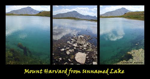 Unnamed Lake and Mount Harvard