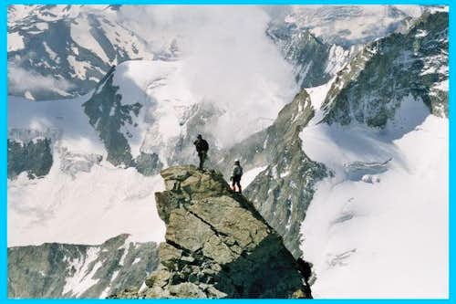Climbers on the S-E summit...