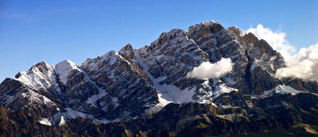 Monte Cristallo after a summer snowfall