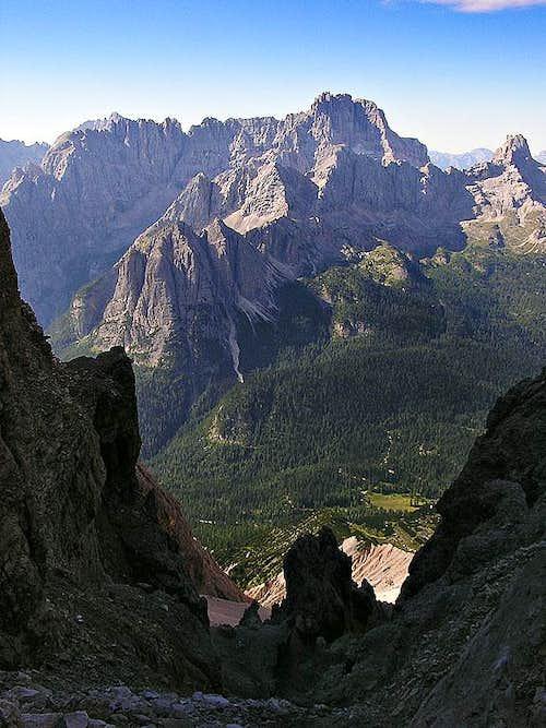 View from Passo del Cristallo