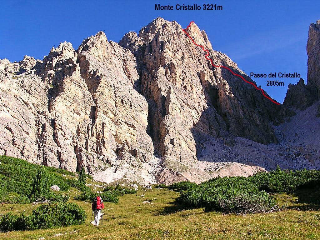 Monte Cristallo Main Summit: the Normal Route