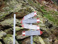 Signs at Rifugio Carate - Brianza
