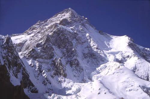 K2 from Base Camp, July 1992,...