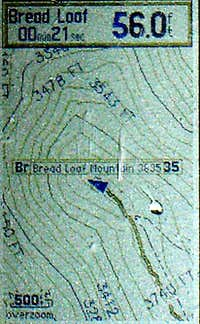 Bread Loaf GPS Capture Topo