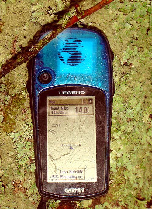 Mount Wilson Summit Topo GPS Capture
