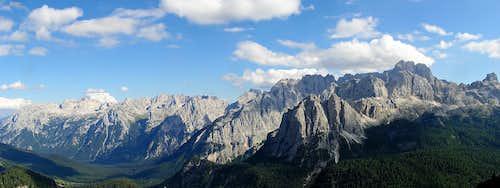 Marmarole Range and Sorapiss panorama