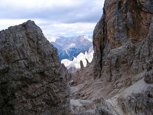 Pinnacles above Passo del Cristallo (2805m)
