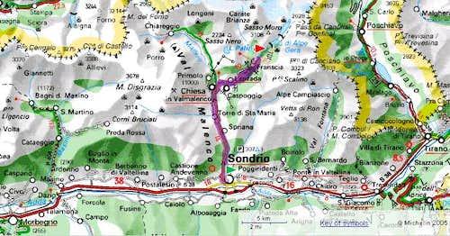 Val Malenco map