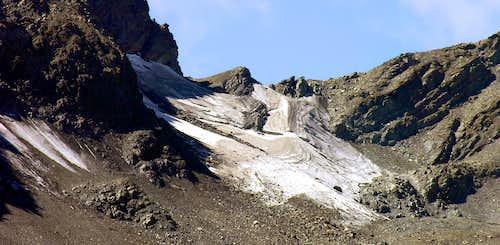Il ghiacciaio di Mont Valeisan