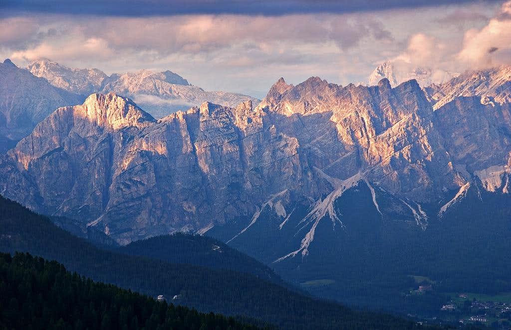 Sunset on the Cortina Bowl: Pomagagnon