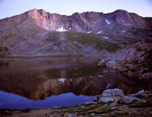 Mt Evans during sunset