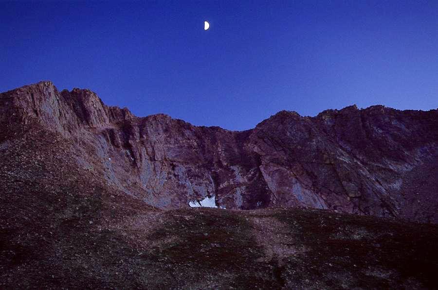 Moon over Evans