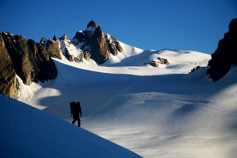 toward to Aiguille du Midi(3842m)