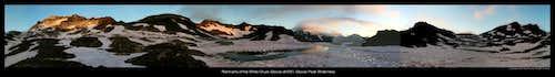 pano of camp below White Chuck Glacier