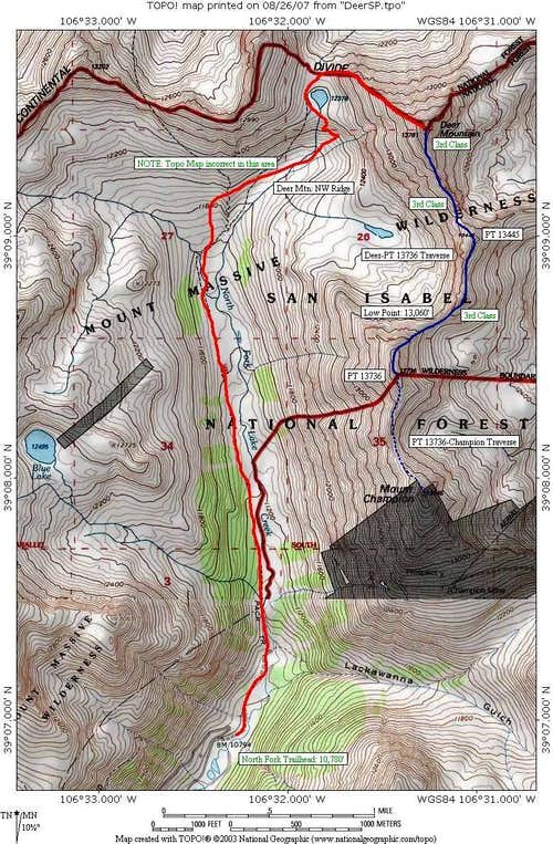 North Fork area 13er overview