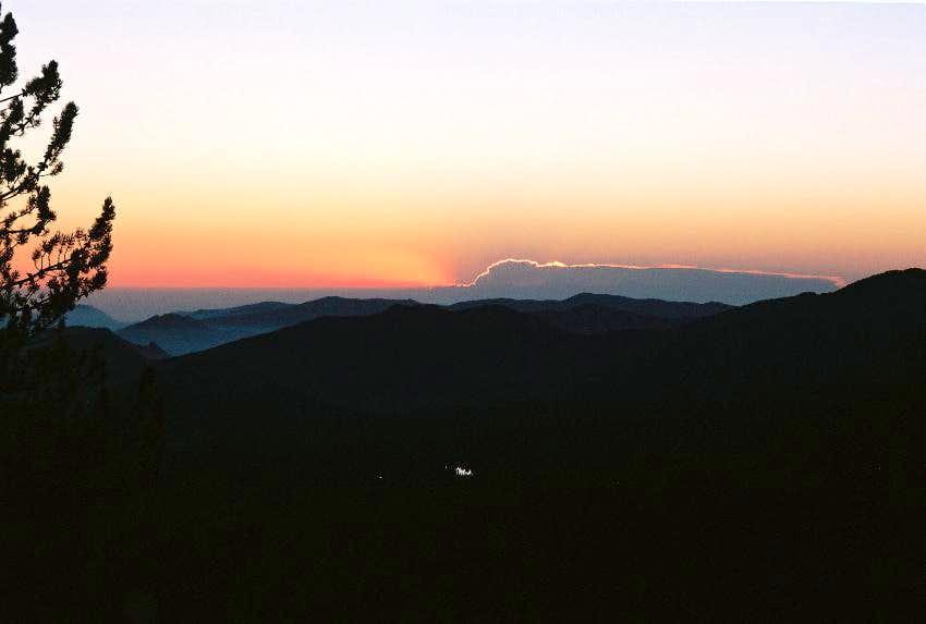 sunrise over RMNP