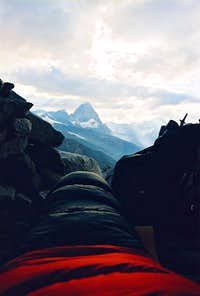 Matterhorn as seen from my bivy cave