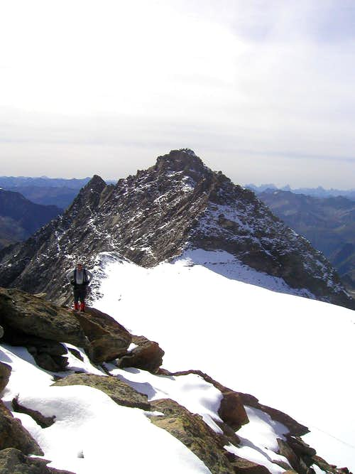 The first parts of the south ridge to Grosser Geiger.