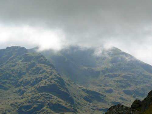 Beinn Ime just before the cloud descended