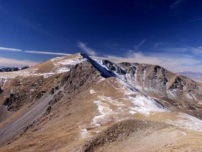 Approaching Venado Peak from...
