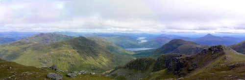 Eastern panorama from Beinn Ime s summit