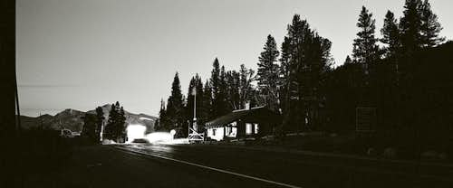Tioga Pass Entrance at Dusk