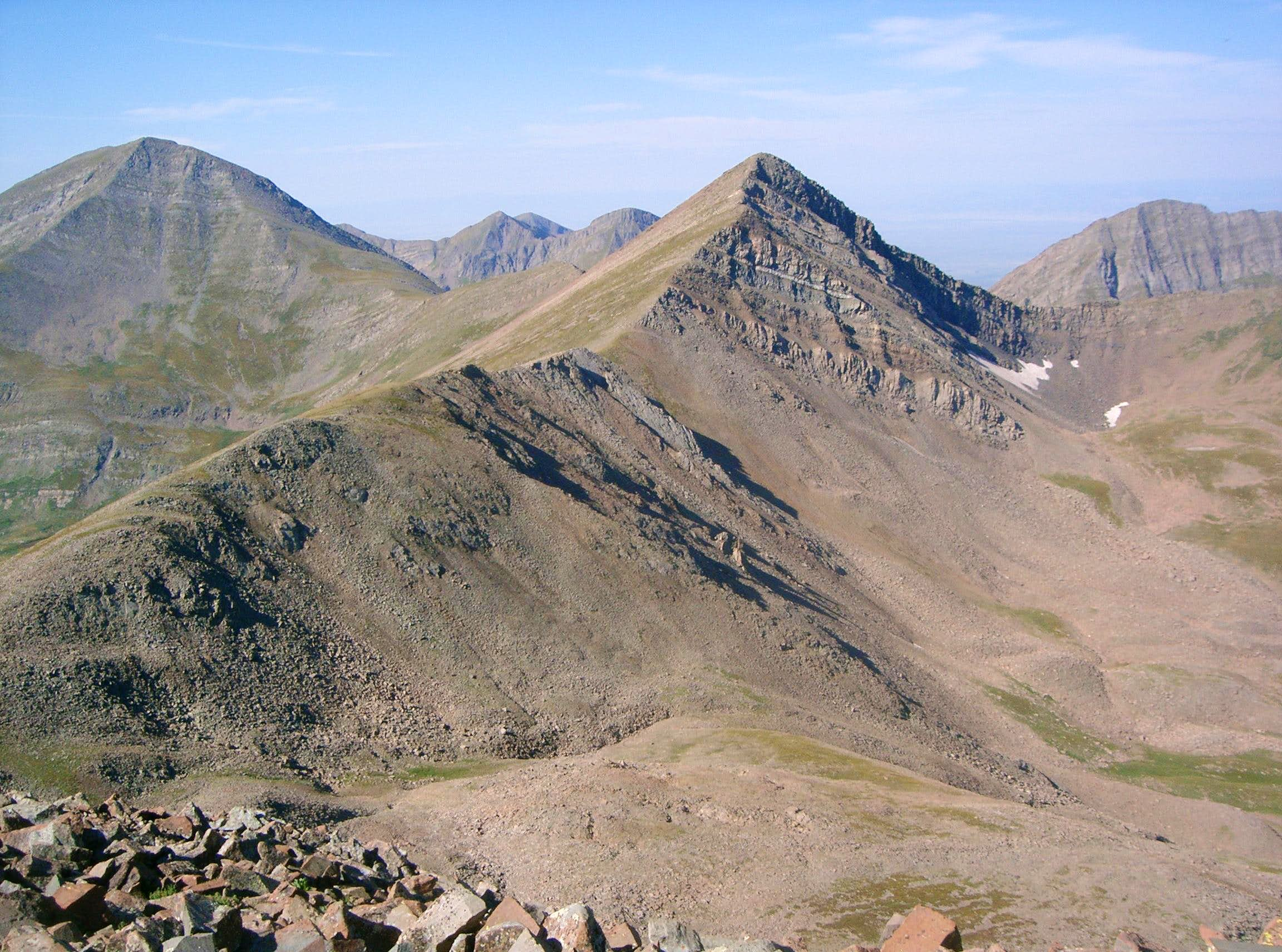 "Rito Alto Peak, ""Cloud Peak"", ""Silver Peak"", Spread Eagle Peak, Hermit Peak A & Eureka Mountain A"