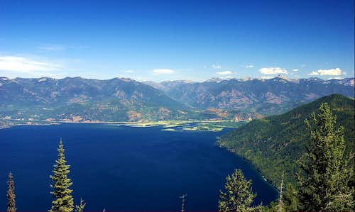 Lake Pend Oreille and the Cabinet Mountains